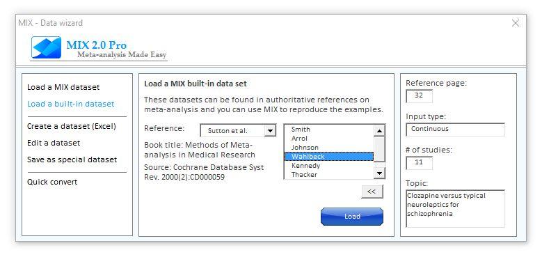 Built-in datasets